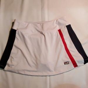 Fila tennis skirt. Medium. Red white and navy